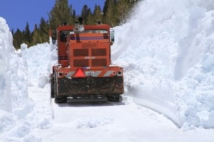 Plowing Tioga Pass