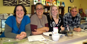 Spellbinder staff - Genevieve Woods, Lynne Almeida, Molly Adams & Zack Pick