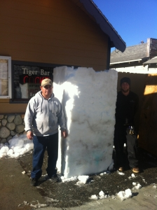 Snow block at Tiger Bar.  (Photos by Double Eagle)
