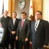 (l-r) Judge Dean Stout, Supervisors Mark Tillemans, Jeff Griffiths and Matt Kingsley.