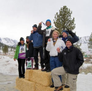 Podium winners - June Lake Triple Threat Triathlon. Photos by Alicia Vennos, Mammoth Lakes Tourism.