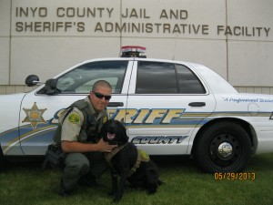 Deputy Josh Nicholson and Capo.