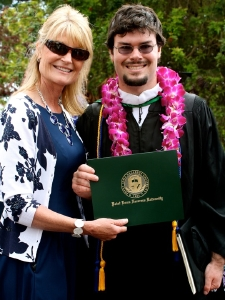 Lori Ciccarelli and son Jeremy Brooks.