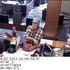 Surveillance tape of bank robbery suspect