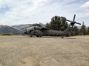 Blackhawk helicopter from the Army Air National Guard.  MCSO photo
