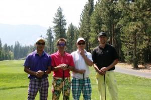 Low-score winners: (L to R): Guy Bien, Ian Birrell, Christian Newman, and Ryan Clark