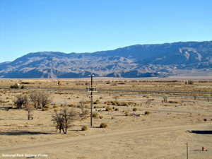 National Park Service photo of solar site as seen from Manzanar.