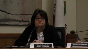 Supervisor Linda Arcularius stood up for the Lone Pine school farm.