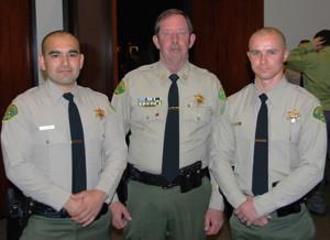 Hoodman and Madiera with Sheriff Bill Lutze