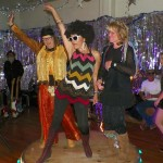 Best Disco Outfit Contestants- Sue Hutson, Jude Greenburgh, and Diana Pietrasanta