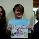 Contest winner Naomi Hawkins (middle) with Wild Iris Director of Programs (L) and Wild Iris Executive Director Lisa Reel (r)