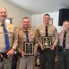 CHP Lieutenant Jeff Holt, CHP Officer Merrill Sept, Deputy Wes Hoskin and Sheriff Ingrid Braun