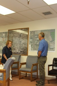 Cora Williams (Joseph's Market) and Dave Grah (Public Works Director)