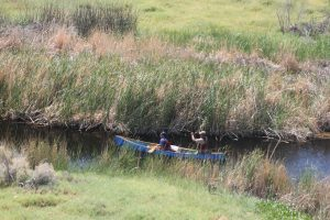 Canoers navigate the Owens River. All photos by Deb Murphy