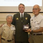 Volunteers Ann and Saburo Sasaki with National Park Service Director Jon Jarvis, August 9, 2016, in Washington, DC.