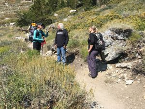 Unidentified Thru-hiker with Kammi Foote and Chuck Levin early in the hike of this wilderness civics effort.
