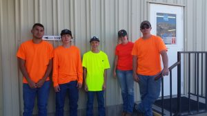 The Independence Kid Crew: From left: Ryan Cappello, Austin Jones, Chance Womack, Lacie Jones, Eddie Ivey