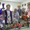 Standing amid some of their holiday boutique creations, Northern Inyo Hospital Auxiliary members Sharon Stone, Judy Fratella, Addie Zaragosa, Pat Hawley, Betty Anziano, Carole Sample and Betty Dickey invite everyone to their annual boutique Nov. 4. The boutique will be held in a new location this year: NIHD's Birch Street Annex. Photo by Barbara Laughon/Northern Inyo Healthcare District