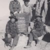 Trail Crest: The DeDeDecker family, father Paul, mother Mary, sisters Joan and Carol, after summiting Mt. Whitney in 1947. DeDecker Family Photo.