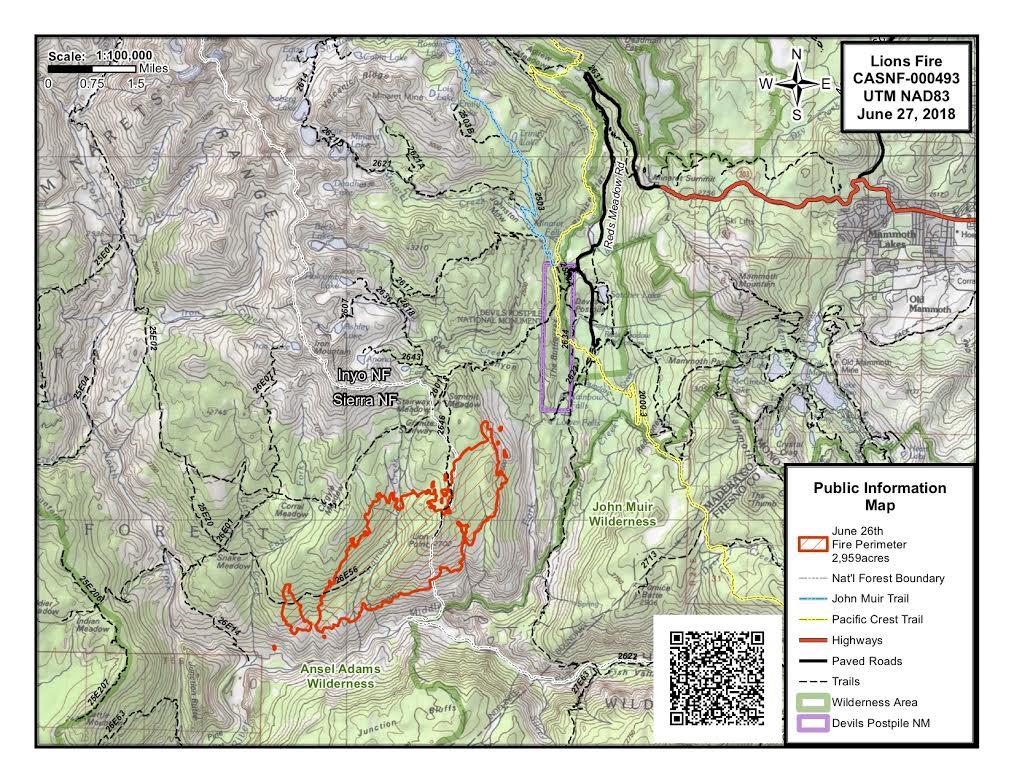 lions fire map - Sierra Wave: Eastern Sierra News