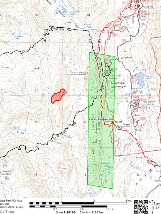 Lost Fire Map - TOPO - Sierra Wave: Eastern Sierra News