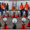 Caltrans District 9 Workers Memorial 2018.  Bridgeport Maintenance Crew stand in rememberance of their fellow workers who died in the line of duty.
