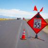 caltrans speed sign